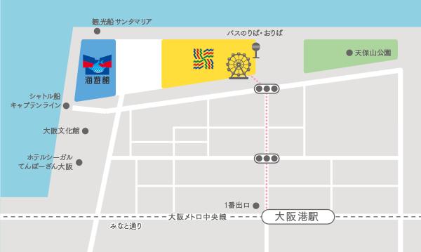大阪港駅からの地図