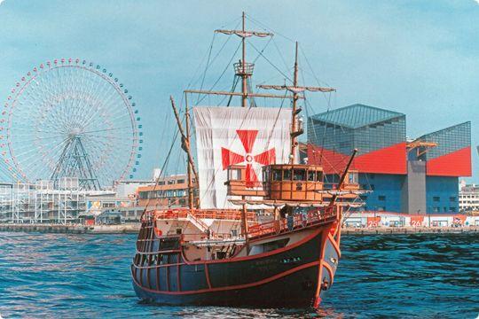 帆船型観光船サンタマリア 天保山ハーバービレッジ